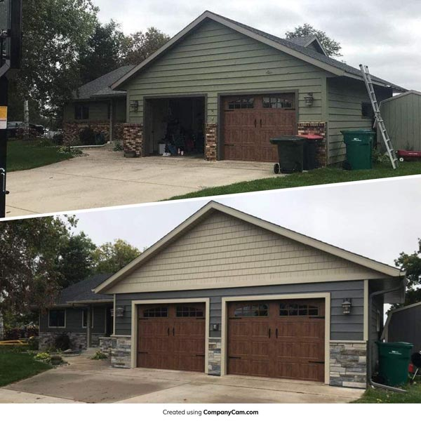 Residential roofing and siding before and after