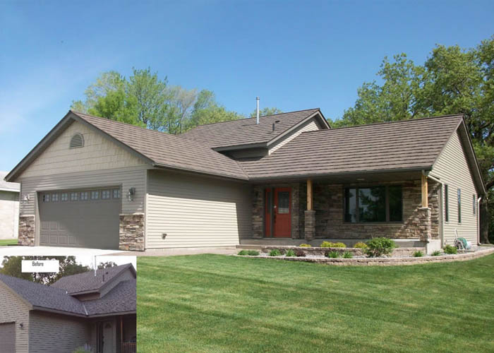 BD Exteriors Metal Shingles and Doors- Sartell, Complete Exterior Remodel 2