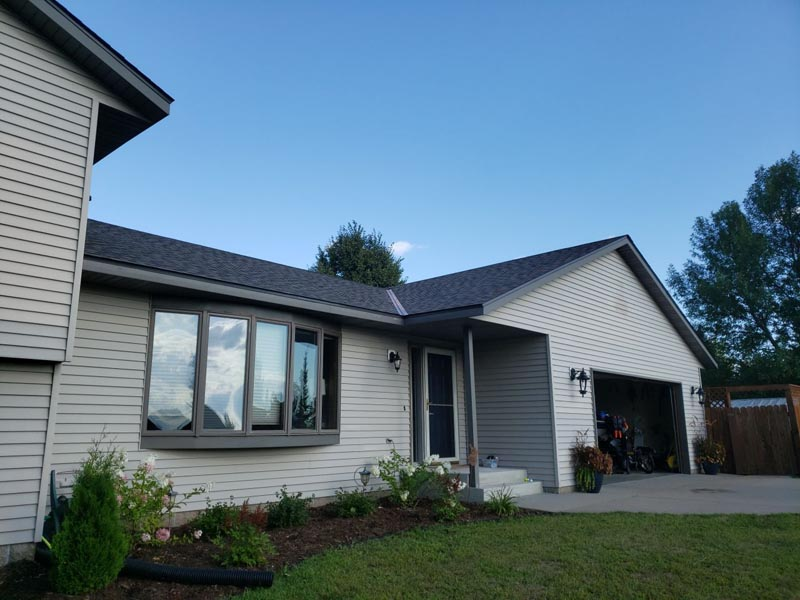 Eric & Missy Green home in St. Cloud after a hail storm, in need of roof and siding replacement.