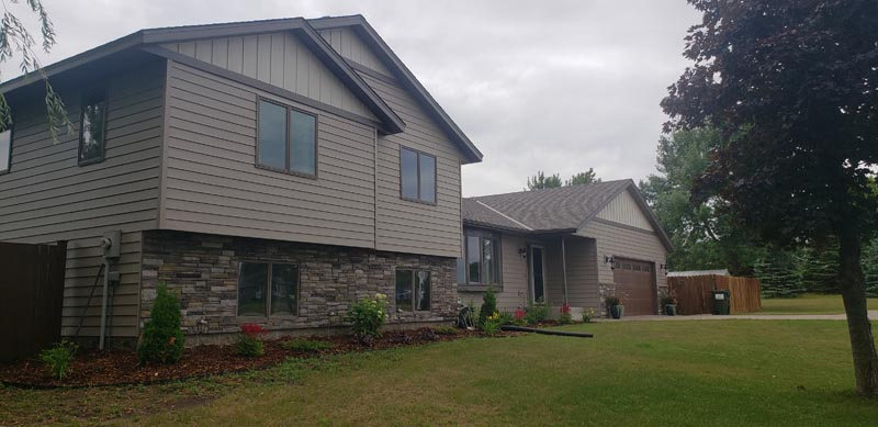 Eric & Missy Greene home in St. Cloud after roof and siding replacement by the BD Exteriors team.